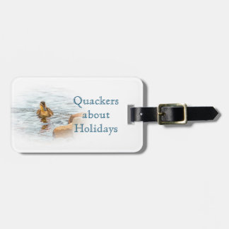 Baby duckling wildlife photograph badge luggage tag