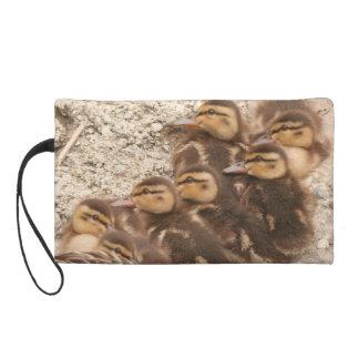 Baby Ducklings Ducks Birds Wildlife Animals Bag Wristlet Clutch