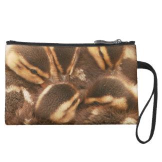 Baby Ducklings Ducks Birds Wildlife Animals Bag Wristlet