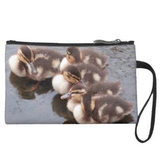 Baby Ducklings Ducks Birds Wildlife Animals Bag Wristlet Clutches
