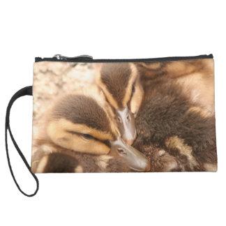 Baby Ducklings Ducks Birds Wildlife Animals Bag Wristlet Purses