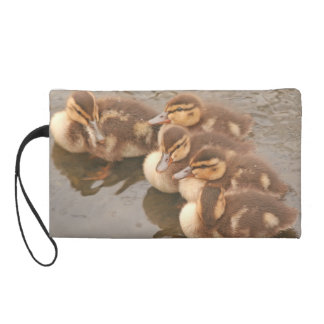 Baby Ducklings Ducks Birds Wildlife Animals Bag Wristlets