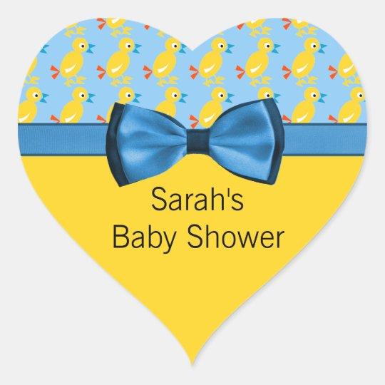 Baby Ducks In Yellow & Blue Baby Shower