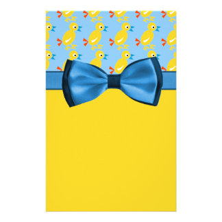 Baby Ducks In Yellow & Blue Baby Shower Stationery