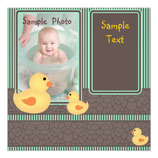 Baby Ducks Invitations