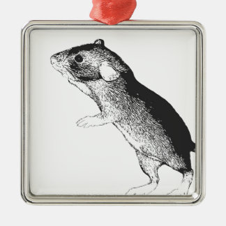 Baby dumbo rat christmas ornament