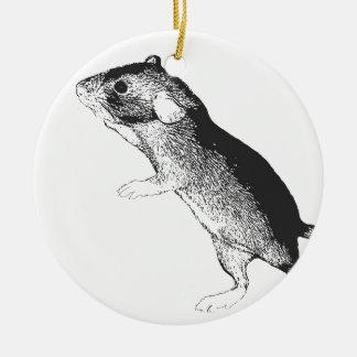 Baby dumbo rat round ceramic decoration