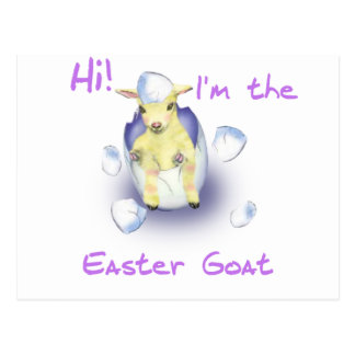 Goats for easter gifts t shirts art posters other gift ideas baby easter goat postcard negle Images