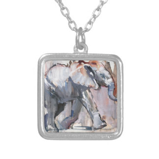 Baby elephant 2012 silver plated necklace