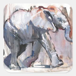 Baby elephant 2012 square sticker