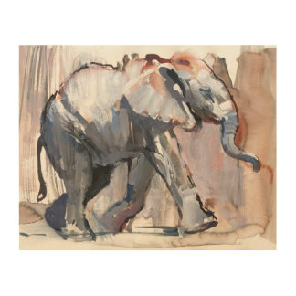 Baby elephant 2012 wood wall art