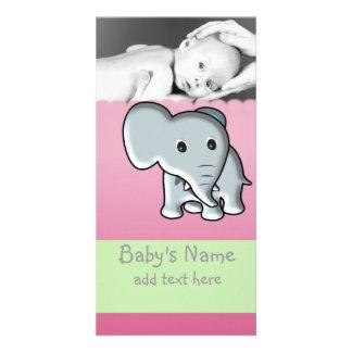 Baby Elephant Announcement Card