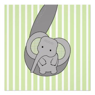 Baby Elephant Art Photo