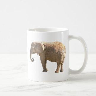 baby elephant basic white mug