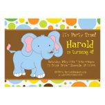 Baby Elephant Birthday Party Invitation