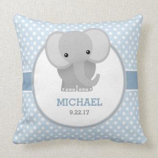 Baby Elephant (blue) Cushion