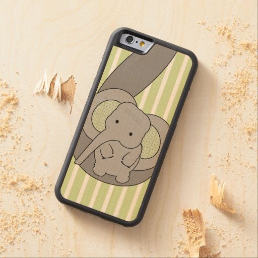 Baby Elephant Carved® Maple iPhone 6 Bumper Case