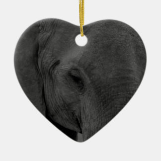 Baby elephant ceramic heart decoration
