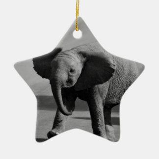 Baby elephant christmas ornament