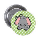 Baby Elephant Cutie Pinback Button