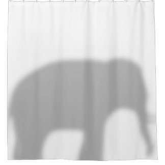 Baby Elephant in the shower Shower Curtain