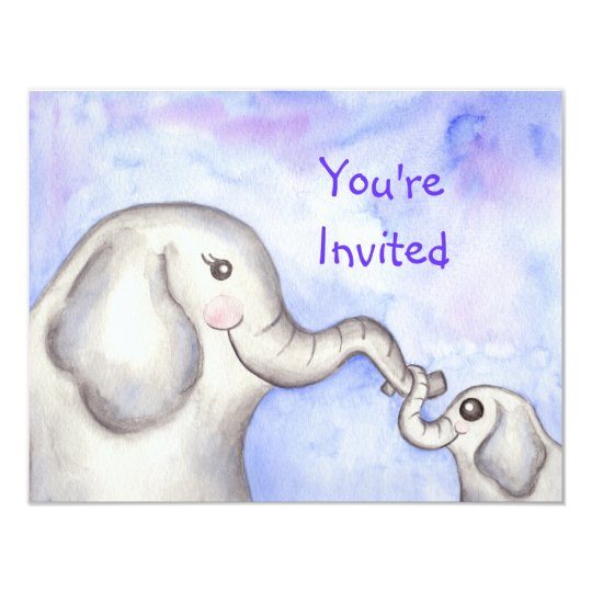Baby Elephant Invitations