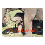 Baby Elephant Invitations Template