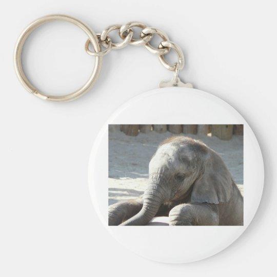 baby elephant key ring