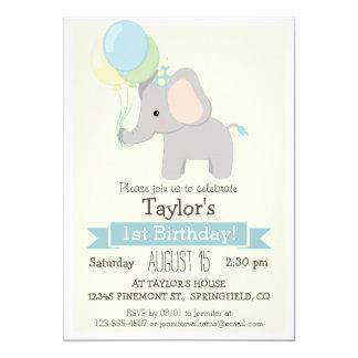 Baby Elephant Kid's Birthday Party Invitation