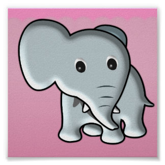 Baby Elephant/ Nursery Decor Poster