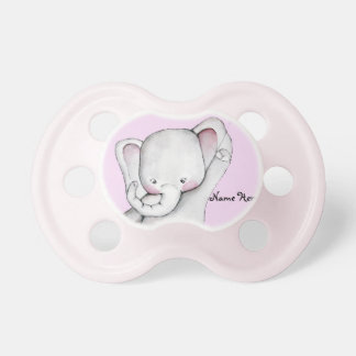 Baby Elephant Pink Pacifier