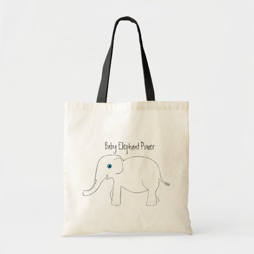 Baby Elephant Power Tote Bag