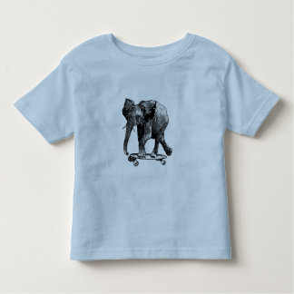 Baby elephant skateboards with the best of them! toddler T-Shirt