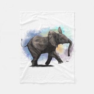 Baby Elephant Walking Fleece Blanket