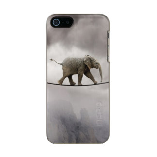 Baby Elephant Walks The Tightrope Incipio Feather® Shine iPhone 5 Case
