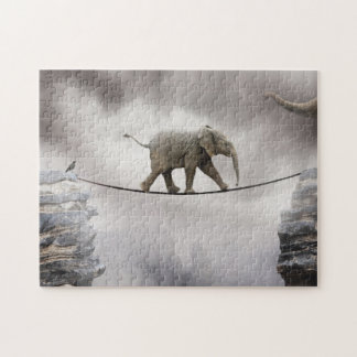 Baby Elephant Walks The Tightrope Jigsaw Puzzle