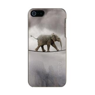 Baby elephant walks tightrope across big gorge. incipio feather® shine iPhone 5 case