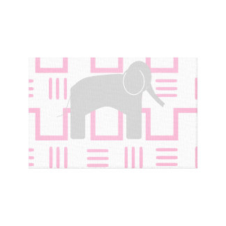 Baby Elephant Wall Art Canvas