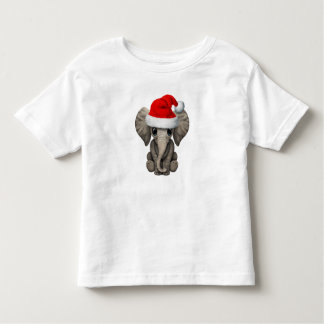 Baby Elephant Wearing a Santa Hat Toddler T-Shirt