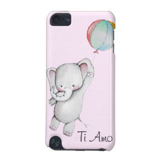 Baby Elephant with Balloon Pink iPod Touch 5g Case