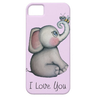 Baby Elephant with Bee iPhone 5 Case Pink