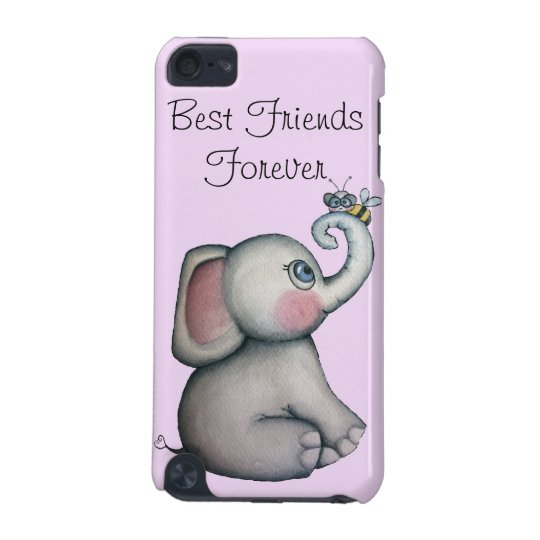 Baby Elephant with Bee iPod Touch 5g Case Pink