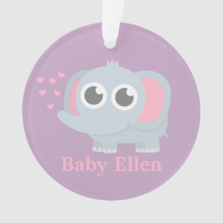 Baby Elephant With Love Girls Nursery Room Decor