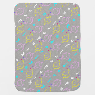 Baby Elephants with flowers Baby Blanket