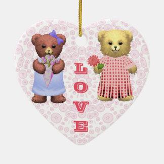 Baby Ella Bear's Ceramic Heart Decoration