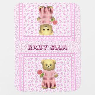 Baby Ella Bear's Spring bear Baby Blanket