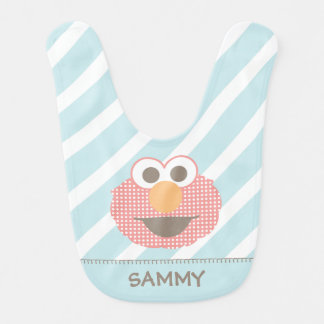 Baby Elmo Big Face Polka Dot | Add Your Name Baby Bibs