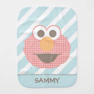 Baby Elmo Big Face Polka Dot   Add Your Name Burp Cloth