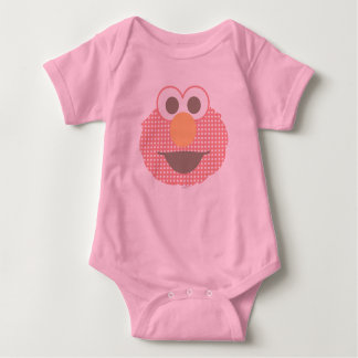 Baby Elmo Big Face Polka Dot Baby Bodysuit