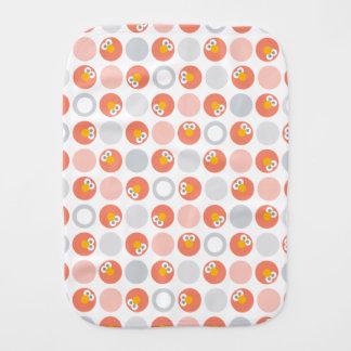 Baby Elmo Circle Pattern Burp Cloth